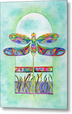 Dragonfly Flight Metal Print by Tamyra Crossley