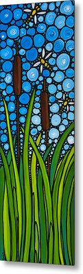 Dragonfly Pond By Sharon Cummings Metal Print by Sharon Cummings