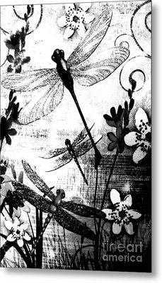 Dragonfly Metal Print by Rose Wang