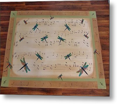 Dragonfly Symphony 64x45 Art For Your Floor Metal Print by Cindy Micklos