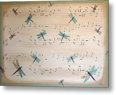 Dragonfly Symphony Metal Print by Cindy Micklos