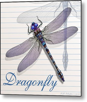 Dragonfly Metal Print by WB Johnston