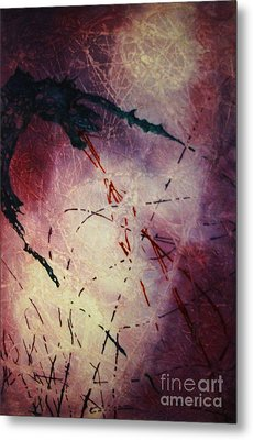 Metal Print featuring the painting Dragons In The Mist by Stuart Engel