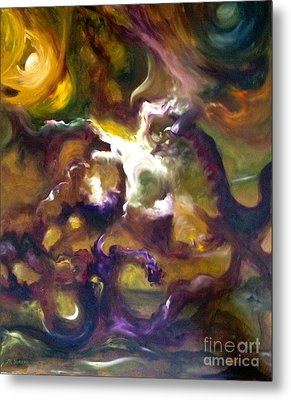 Dragons Metal Print by Michelle Dommer