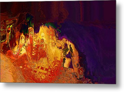 Metal Print featuring the digital art Dragon's Teeth Cave by Constance Krejci