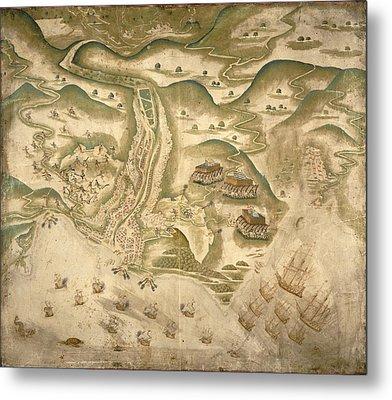 Drake's Attack On St Jago Metal Print by British Library
