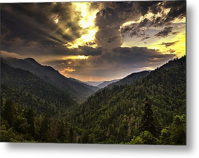 Drama At Day's End Metal Print