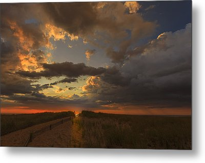 Dramatic Clouds Over Atlantic Ocean Metal Print by Dapixara Art
