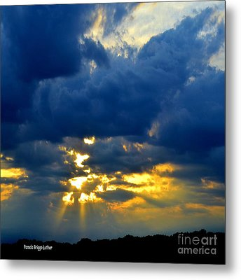 Dramatic Clouds Metal Print by Luther Fine Art
