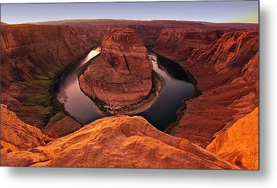 Metal Print featuring the photograph Dramatic River Bend by David Andersen