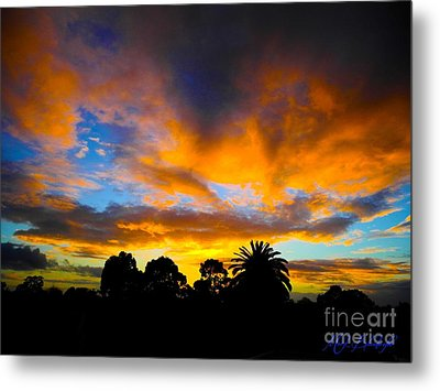 Metal Print featuring the photograph Dramatic Sunset by Mark Blauhoefer