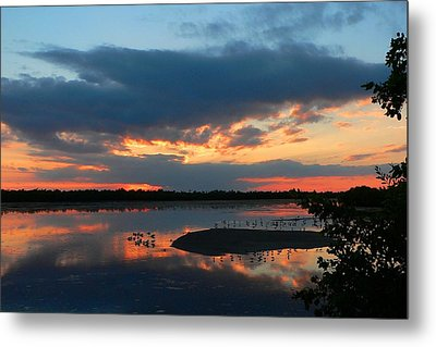 Metal Print featuring the photograph Dramatic Sunset by Rosalie Scanlon