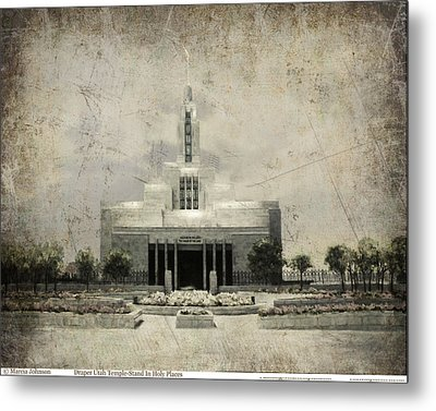Draper Temple Stand In Holy Places Antique Metal Print