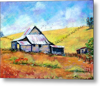Drapper Valley Barn Metal Print by Bruce Schrader