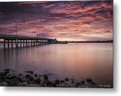 Drawbridge At Dusk Metal Print