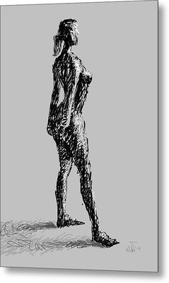 Drawing-01 Metal Print