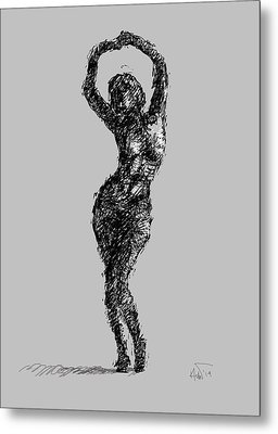 Drawing-02 Metal Print