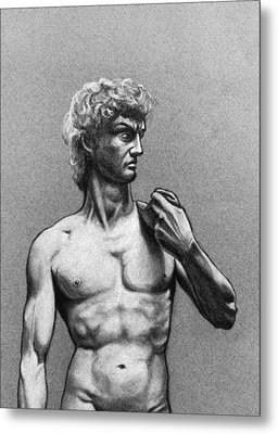 Drawing Of Michelangelos David Metal Print