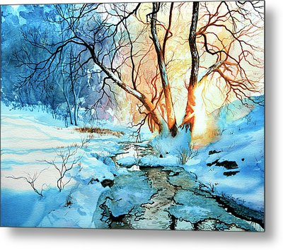 Drawn To The Sun Metal Print by Hanne Lore Koehler