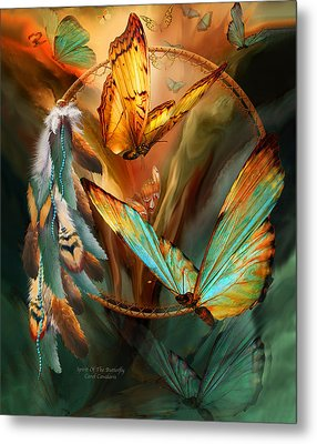 Dream Catcher - Spirit Of The Butterfly Metal Print by Carol Cavalaris