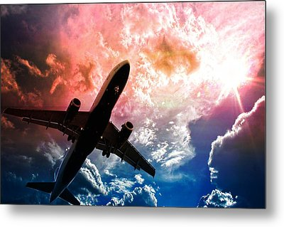 Airplane Metal Print featuring the photograph Dream Flight by Aaron Berg