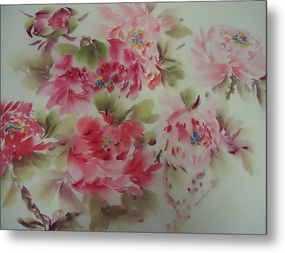 Dream Flower 0725-5 Metal Print by Dongling Sun