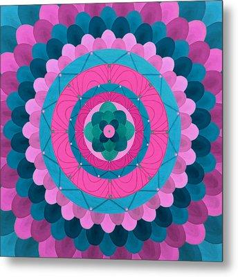 Dream Flower Mandala Metal Print by Vlatka Kelc