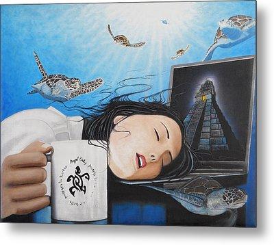 Dream Girl Metal Print by Angel Ortiz