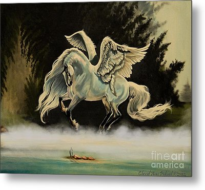 Dream Horse Series #206- A Pegasus In The Mist  Metal Print