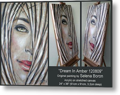 Metal Print featuring the painting Dream In Amber 120809 Comp by Selena Boron