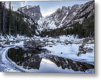Dream Lake Reflection Metal Print by Aaron Spong