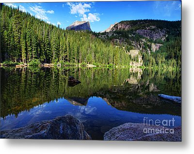 Dream Lake Rocky Mountain National Park Metal Print by Wayne Moran