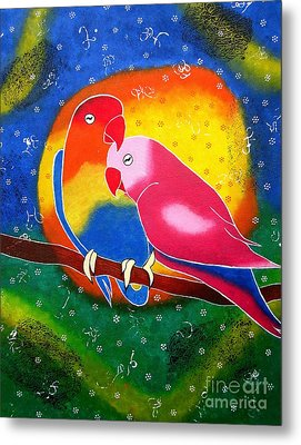 Dream Life-whimsical Painting Metal Print by Priyanka Rastogi