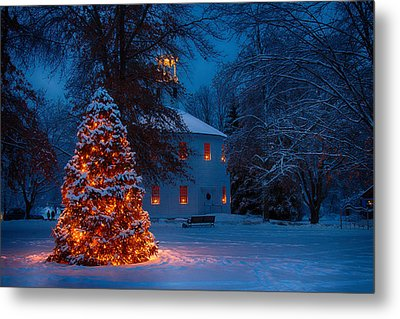 Christmas At The Richmond Round Church Metal Print by Jeff Folger