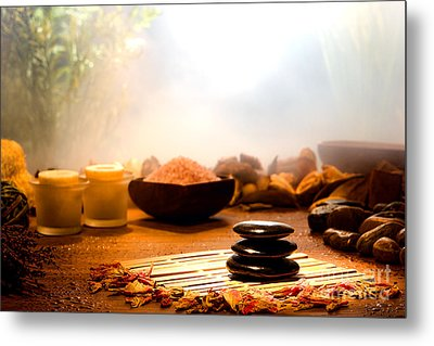 Dream Spa Metal Print by Olivier Le Queinec