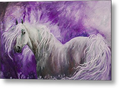 Metal Print featuring the painting Dream Stallion by Sherry Shipley