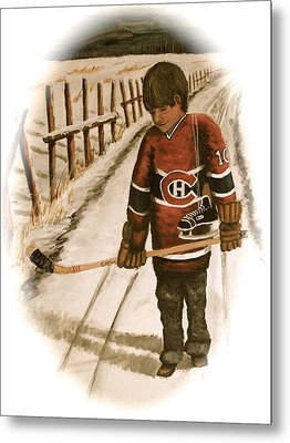 Dream Walking - Lil Hab II Metal Print by Ron  Genest