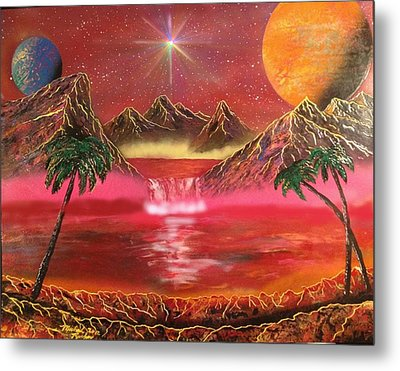 Metal Print featuring the painting Dream World by Michael Rucker