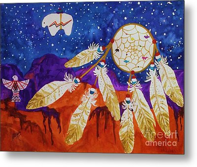 Dreamcatcher Over The Mesas Metal Print