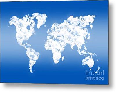 Dreamer World Map Metal Print