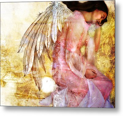 Dreaming Angel Metal Print