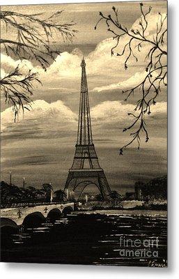 Dreaming Of Paris Metal Print by Brigitte Emme