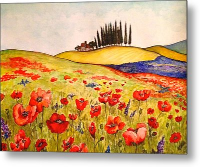 Dreaming Of Tuscany Metal Print by Rae Chichilnitsky