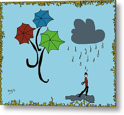 Dreaming Of Umbrellas Metal Print
