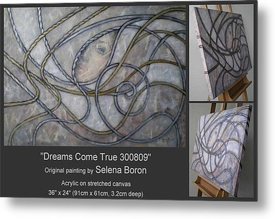 Metal Print featuring the painting Dreams Come True 300809 by Selena Boron