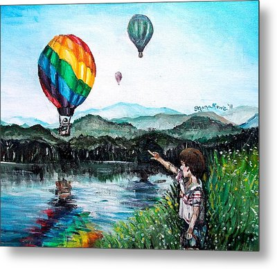 Metal Print featuring the painting Dreams Do Come True by Shana Rowe Jackson
