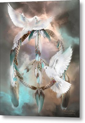 Dreams Of Peace Metal Print by Carol Cavalaris