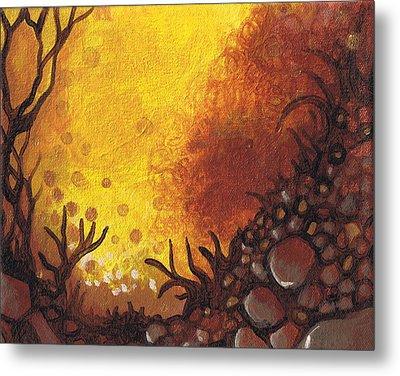Dreamscape In Fall Tones #3 Of 4 Metal Print by Laura Noel