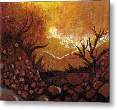 Dreamscape In Fall Tones #4 Of 4 Metal Print by Laura Noel