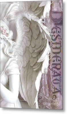 Dreamy Angel Wings Photography - Angel Wings Desiderata Print Home Decor Metal Print by Kathy Fornal